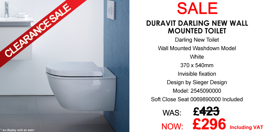 Duravit Darling New Wall Mouted WC Pan