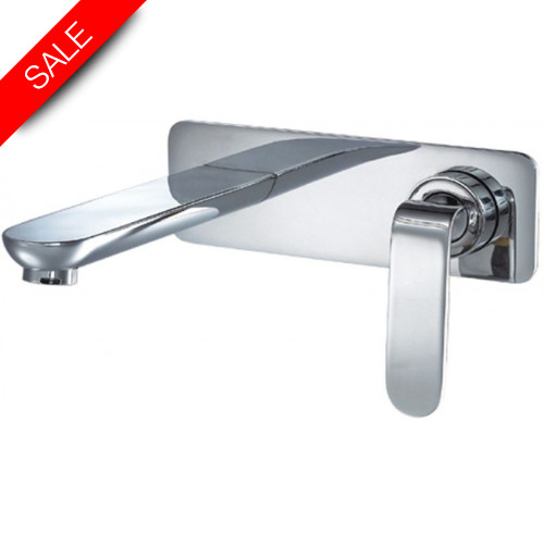 Just Taps - Vue Concealed Manual Valve With Basin Spout