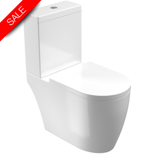 Saneux - Uni WC Pan - Close Coupled, Open Back, Rimless