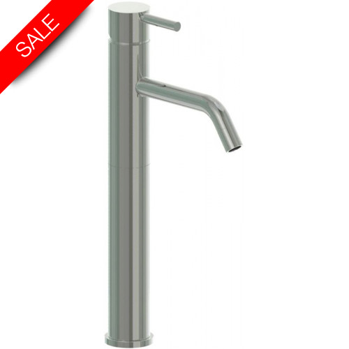 Just Taps - Inox Single Lever Tall Body Basin Mixer Without Pop Up Waste