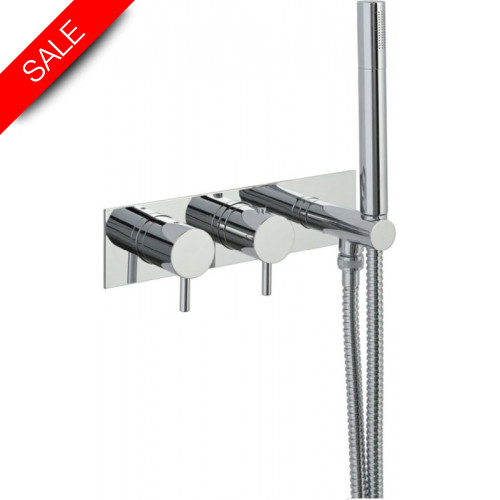 Just Taps - Florence Thermostatic Concealed 2 Outlet Shower Valve