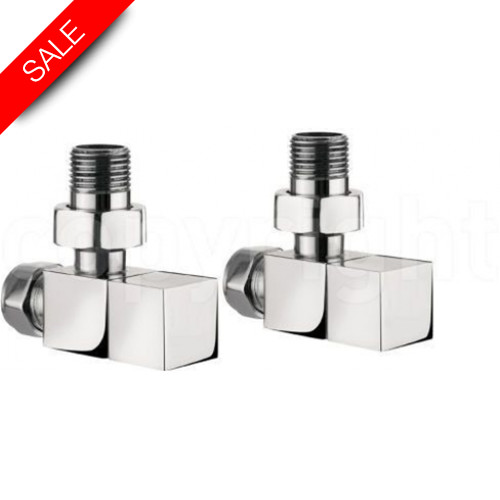 Bauhaus - Elite Wall Mounted Angled Square Radiator Valves
