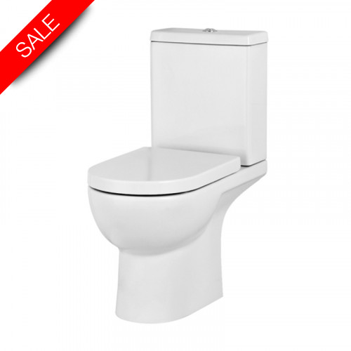 Saneux - Austen Close Coupled WC Pan - Open Back