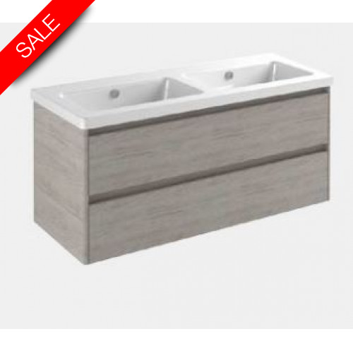 Catalano - New Light 125 2 Drawer Unit 119x47x52cm
