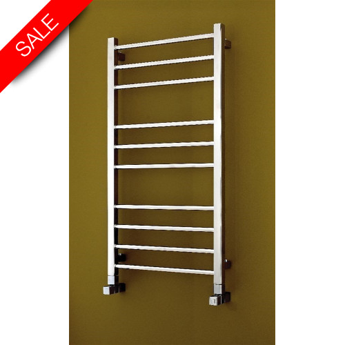 Bisque - Electric Olga Towel Radiator 1200 x 630mm - SS Mirror