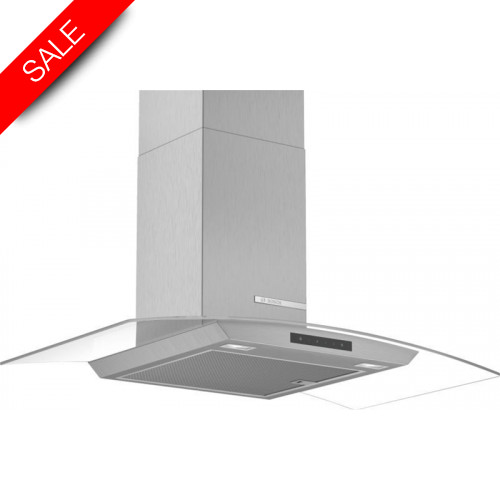 Boschs - Serie 4 90cm Wide Curved Glass Canopy Cooker Hood