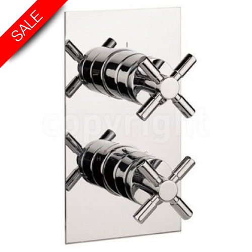 Crosswater - Totti II Thermostatic Shower Valve With 2 Way Diverter