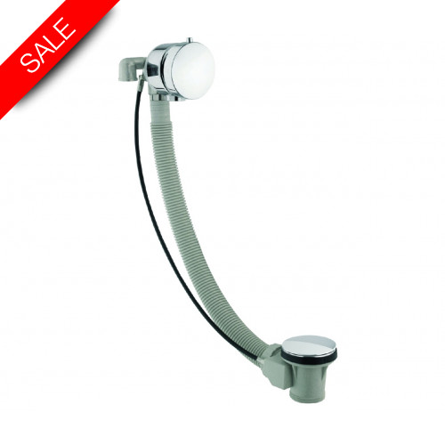 Just Taps - Freeflow Bath Filler With Pop Up Waste System, 60cm