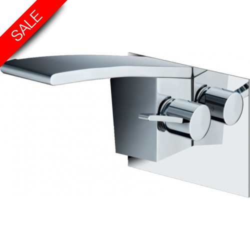 Just Taps - Wings Wall Mounted Single Lever Basin Mixer