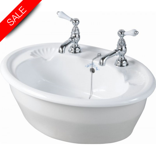 Imperial Bathroom Co - Oxford Inset Basin 545mm 3TH