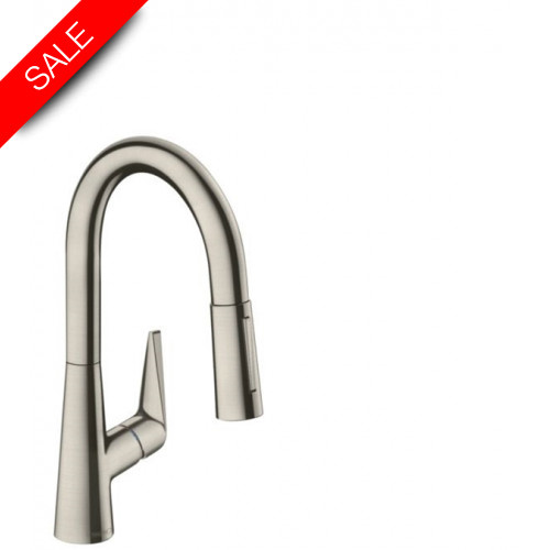 Hansgrohe - Bathrooms - M5116-H160 Single Lever Kitchen Mixer 160, Pull-Out Spray