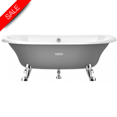 Roca - Eliptico Cast-Iron Freestanding Bath 1700 x 850mm