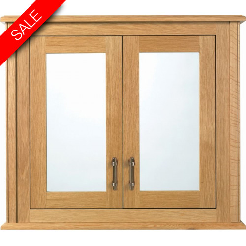Imperial Bathroom Co - Thurleston Mirror Wall Cabinet, 2 Wood/Mirror Glass Doors
