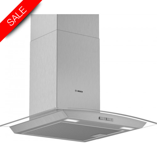 Boschs - Serie 2 60cm Wide Curved Canopy Cooker Hood