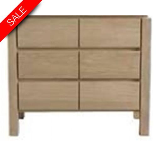 Finwood Designs - Easy Basin Unit With 3 Drawers 120x46.5cm