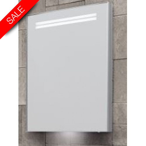 Bathroom Origins - Space II Sgl Door Semi Recessed Cabinet 50 - 500x700mm