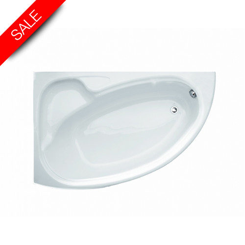 Roca - Davina Corner Bath 1550 x 950mm Right-Hand Installation