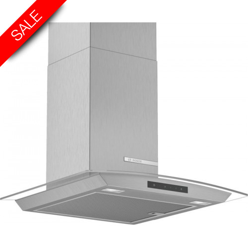 Boschs - Serie 4 60cm Wide Straight Glass Canopy Cooker Hood