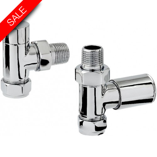 Zehnder - Mixed Dual Energy Radiator Valve Set Chrome