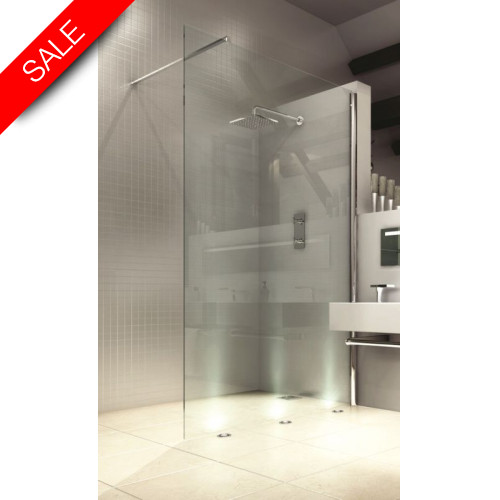 Merlyn - 8 Series Showerwall 1200mm Incl MStone Tray