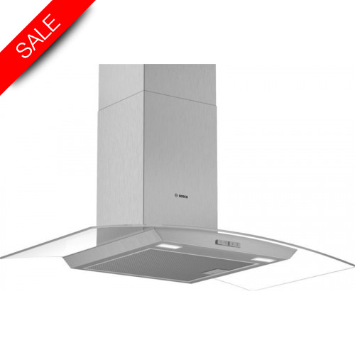 Boschs - Serie 2 90cm Wide Curved Canopy Cooker Hood