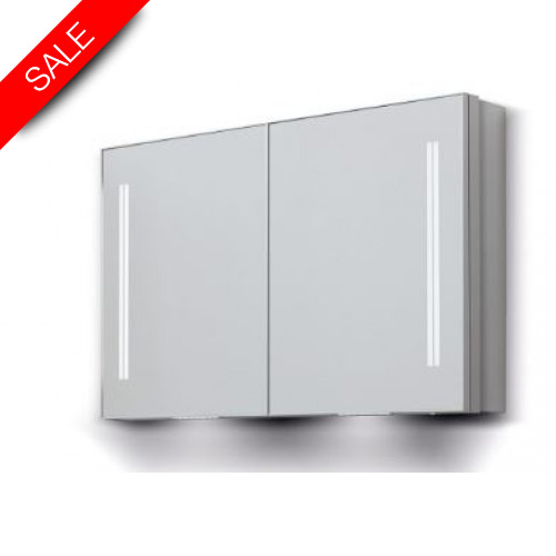 Bathroom Origins - Space II Dbl Door Semi Recessed Cabinet 70 - 700x700mm
