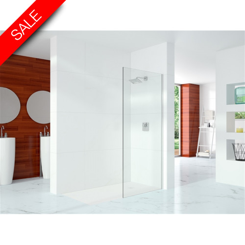 Merlyn - 10 Series Showerwall Incl Wall Profile & Str. Stab. Bar 1400