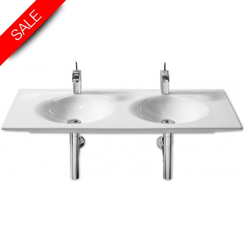 Roca - Kalahari Double Vanity Basin 1200 x 510mm 1TH Per Bowl