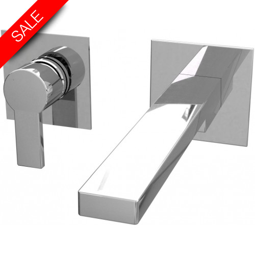 Arteform - Iko Basin 2H Wall Mounted Mixer 180mm Spout