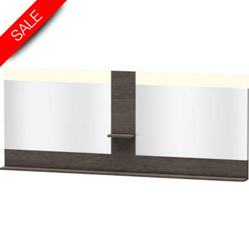 Duravit - Bathrooms - Vero Mirror With Shelves In Middle & Below 800x2000x142mm