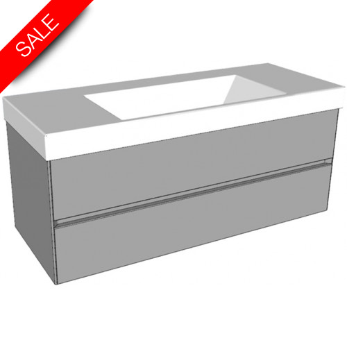 Catalano - Zero 125 2 Drawer Double Unit