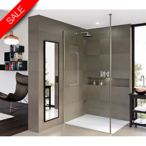 Matki - Matki One Wet Room Panel 900mm With Ceiling Brace
