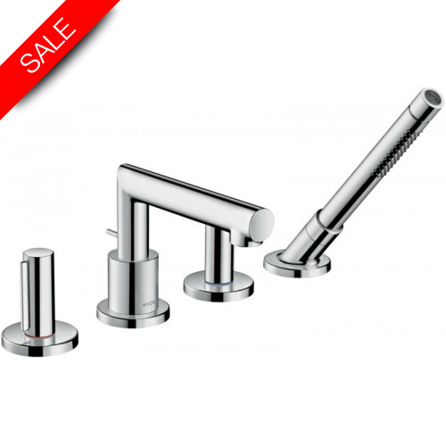 Hansgrohe - Bathrooms - Uno 4-Hole Rim-Mounted Bath Mixer Zero Handle