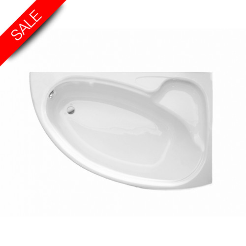 Roca - Davina Corner Bath 1550 x 950mm Left-Hand Installation
