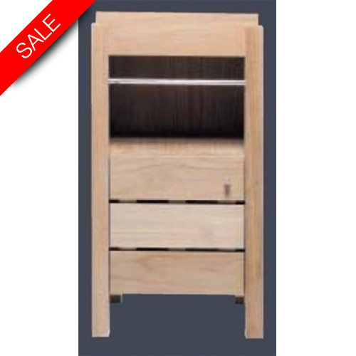 Finwood Designs - Cloakroom Basin Unit With 1 Door L40 x P34 x H75cm