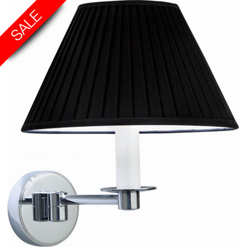 Imperial Bathroom Co - Brokton Wall Light With Flat Pleated Cotton Shade