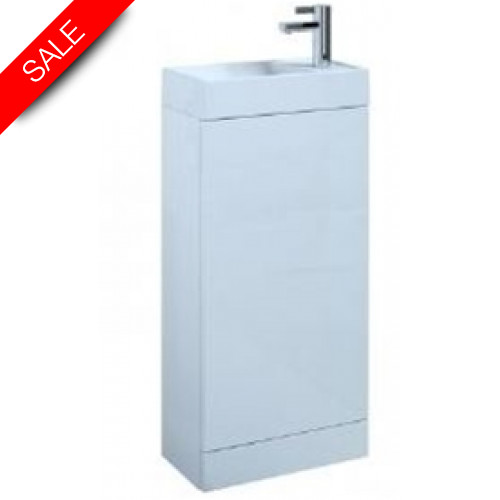 Saneux - Quadro Cloakroom Floor Mounted Washbasin & Unit