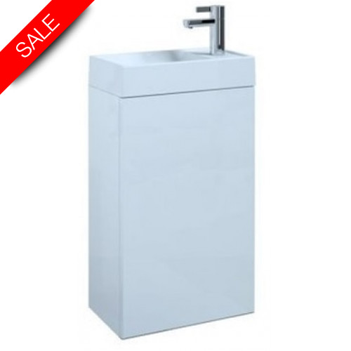 Saneux - Quadro Cloakroom Wall Mounted Washbasin & Unit