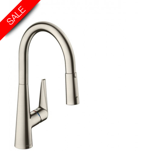 Hansgrohe - Bathrooms - M5116-H200 Single Lever Kitchen Mixer 200, Pull-Out Spray