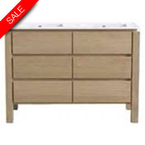 Finwood Designs - Easy Basin Unit With 3 Drawers & Basin 2TH 120x46.5cm