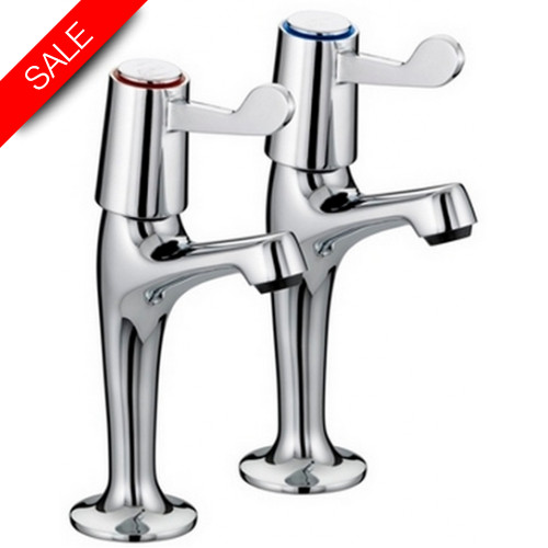 Just Taps - Astra High Rise Sink Taps, Lever Handle, LP 0.2