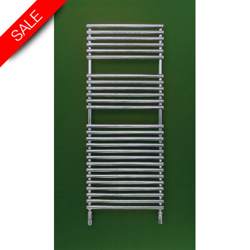 Bisque - Electric Straight Fronted Towel Radiator 796 x 496mm