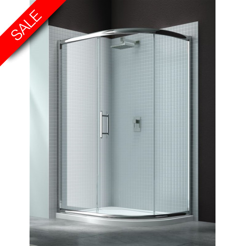 Merlyn - 6 Series 1 Door Offset Quad 900 x 760mm Incl Tray LH