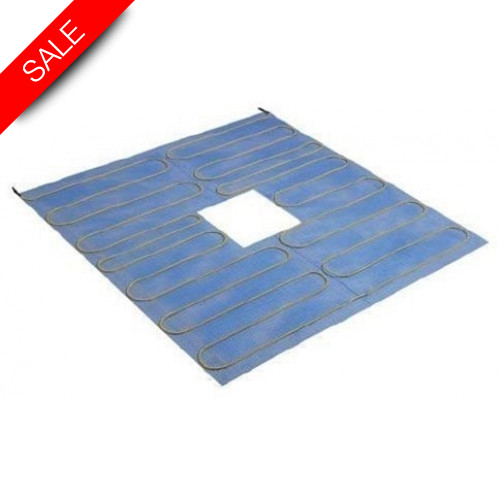 Thermonet - Shower Tray Heatmat 1.0m x 1.0m Central Drain