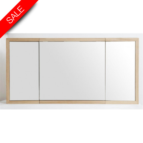 Finwood Designs - Bathroom Cabinet Tryptique 100x12x50cm