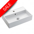 Turin Wall Mounted Basin With Overflow 500mm