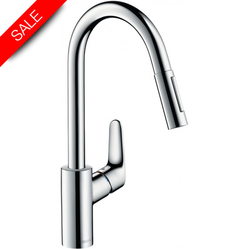 Hansgrohe - Bathrooms - M4116-H240 Single Lever Kitchen Mixer 240, Pull-Out Spray