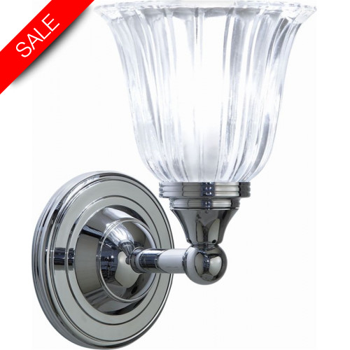Imperial Bathroom Co - Segovia Lamp With Glass Shade