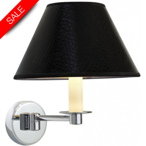 Imperial Bathroom Co - Brokton Wall Light With Leather Effect Shade