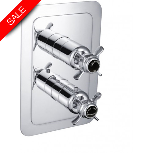 Just Taps - Grosvenor Pinch - Concealed/Thermostatic 2 Outlet Valve